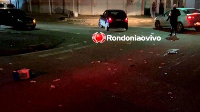 Mulher morre em grave acidente de moto em Porto Velho