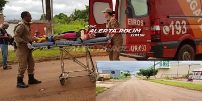 Rolim de Moura – Buracos na via ocasionam duas quedas de moto neste sábado