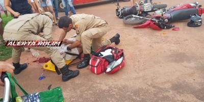 Rolim de Moura – Grave acidente de trânsito envolvendo duas motos é registrado no Bairro São Cristóvão