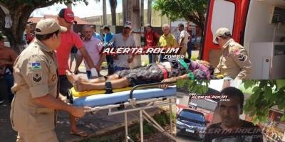 Rolim de Moura – URGENTE-  Andarilho que foi esfaqueado na tarde desta segunda não resistiu e morreu minutos depois de dar entrada no pronto-socorro