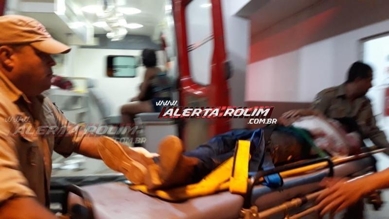 Rolim de Moura – URGENTE - Durante briga generalizada em festa, dois homens foram esfaqueados nesta madrugada no Bairro Cidade Alta - Vídeo