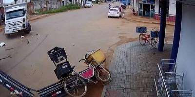 Vendedor de picolés escapa da morte em Vilhena – Vídeo