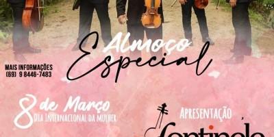 Rolim de Moura - Restaurante Sal da Terra realizará almoço especial com a Orquestra e Coral Fontinele no dia internacional da mulher