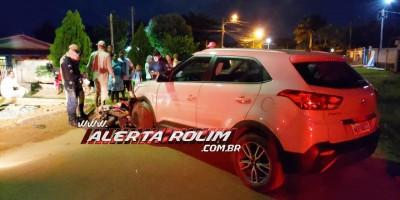 Rolim de Moura – Acidente de trânsito envolvendo moto e carro é registrado no Bairro Planalto- Vídeo