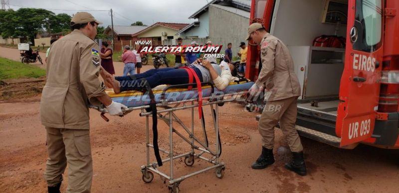 Rolim de Moura – Mulher fica ferida ao ser atingida por carro no Bairro Beira Rio – Vídeo