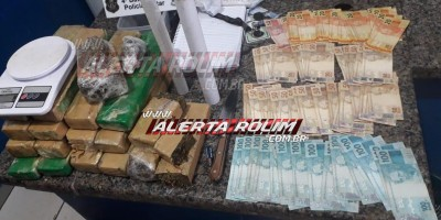 Ação conjunta entre Núcleo de Inteligência da PM e Polícia Civil resulta na apreensão de mais de 12 kg de maconha, em Cacoal