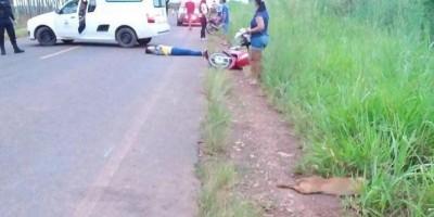 Alta Floresta – Mulher fica ferida após bater moto em cachorro na Linha P.50.