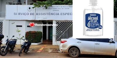 CORONAVÍRUS: Farmácia da prefeitura é arrombada e ladrões levam estoque de álcool em gel, em Porto Velho