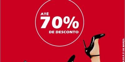 Megaliquidação Santa Lola na Fascínio Modas com descontos de até 70%