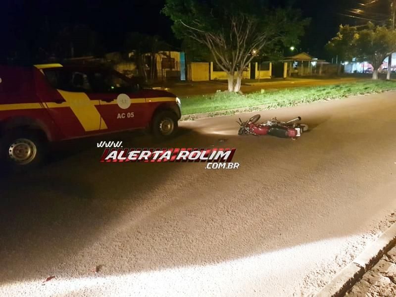 Rolim de Moura – Motociclista fica ferido após avançar preferencial e se chocar contra viatura da Polícia Civil