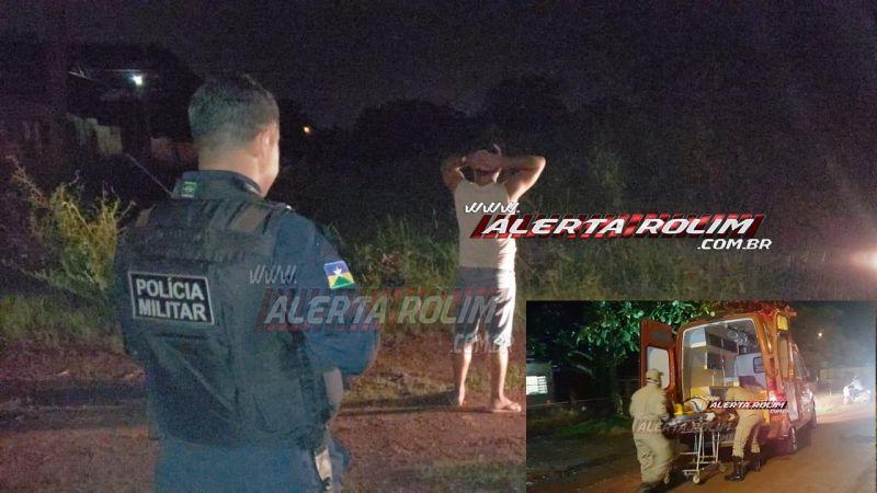 Rolim de Moura – URGENTE - Homem desfere facada no peito da própria irmã no Bairro Beira Rio; PM agiu rápido e prendeu o suspeito minutos depois do crime; assista ao vídeo da prisão