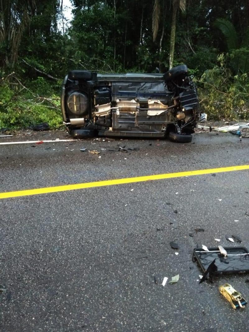 Acidente na BR-319 entre Porto Velho e Humaitá deixa dois mortos
