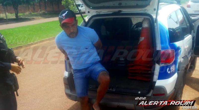 Acusado de tráfico de drogas é preso pela Polícia Militar do 10° Batalhão em Rolim de Moura