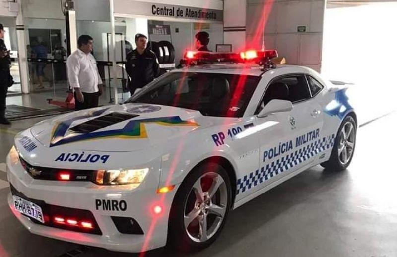 Camaro cedido pela Justiça à Polícia Militar de Rondônia será utilizado como viatura