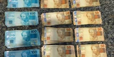 Cerca de 20 mil reais possivelmente ligado ao tráfico de drogas são apreendidos pela equipe do PATAMO da PM em Cacoal