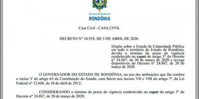 Governo mantém quarentena em Rondônia até 20 de abril, mas municípios ganham poderes para tomarem decisões