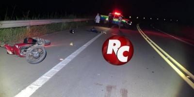 Motociclista morre após queda na BR 429, em São Francisco do Guaporé