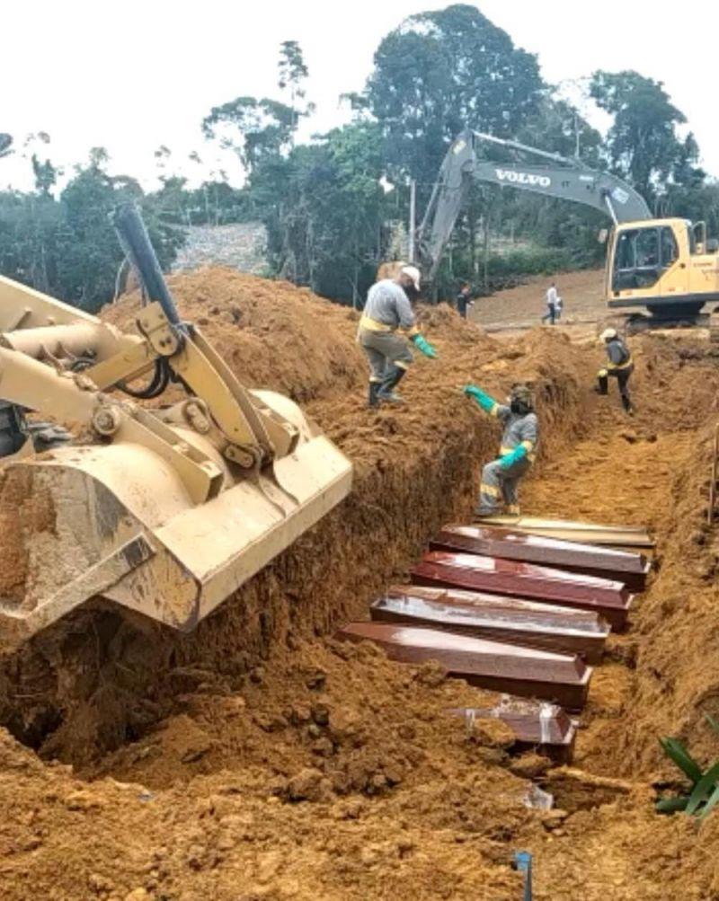 Prefeitura de Manaus faz valas comuns em cemitério para enterrar vítimas de coronavírus; veja vídeo