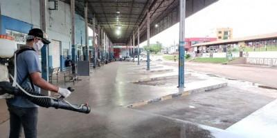 Shopping Popular recebe dedetização contra Coronavírus, em Rolim de Moura