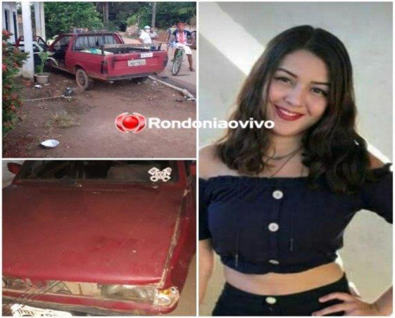 URGENTE: Carro invade residência e mata adolescente atropelada, em RO