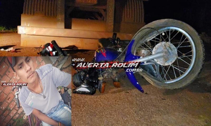 URGENTE- Dois meses depois de ficar gravemente ferido ao bater em traseira de carreta estacionada, jovem morre nesta quarta-feira, em Rolim de Moura