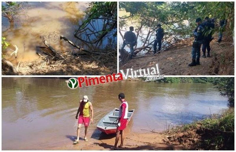 Corpo de homem com tatuagem na nuca é encontrado por populares no Rio Pimenta,  em Pimenta Bueno