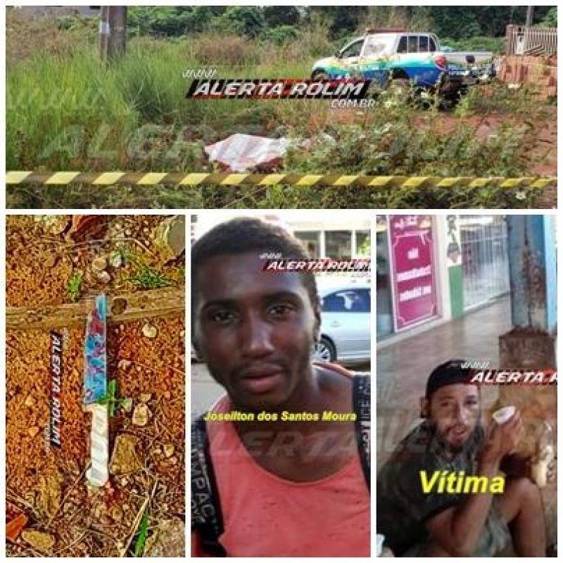 Suspeito de matar morador de rua com diversas facadas é preso horas depois do crime em Rolim de Moura; Veja o vídeo em que o Delegado da detalhes da prisão