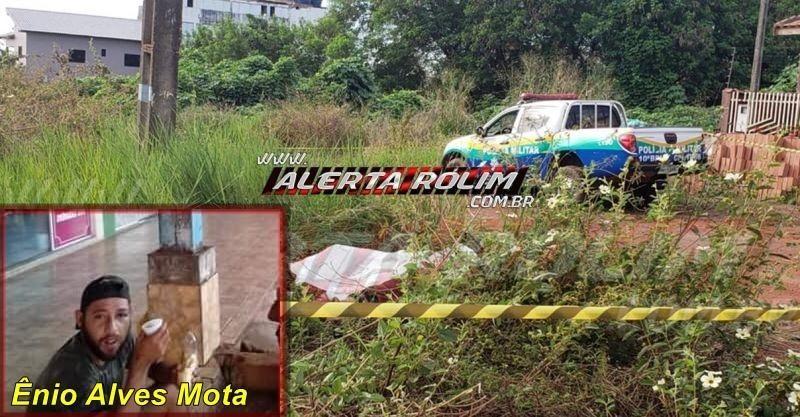 Morador de rua que foi morto a facadas em Rolim de Moura é identificado por familiares