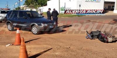 Motorista inabilitado se envolve em acidente de trânsito e uma pessoa acaba ferida, em Rolim de Moura – Veja o vídeo