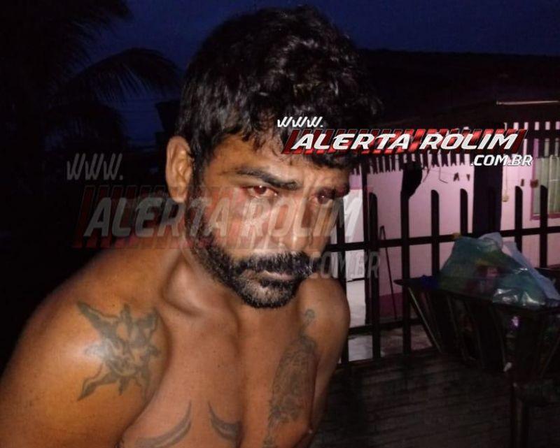 Acusado de matar homem degolado e com tiro na cabeça na cidade de Pimenta Bueno, foi preso pela PM e PC, em Santa Luzia do Oeste