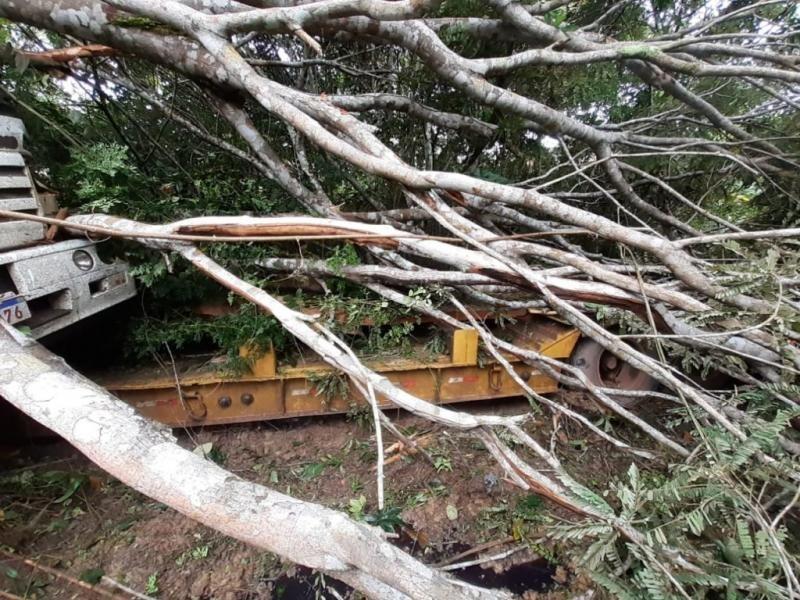 Empresário morre após caminhão cair em ribanceira na BR-364