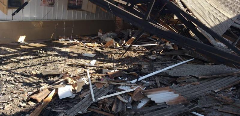 Incêndio durante a madrugada deste domingo destrói Igreja, em Alto Alegre dos Parecis