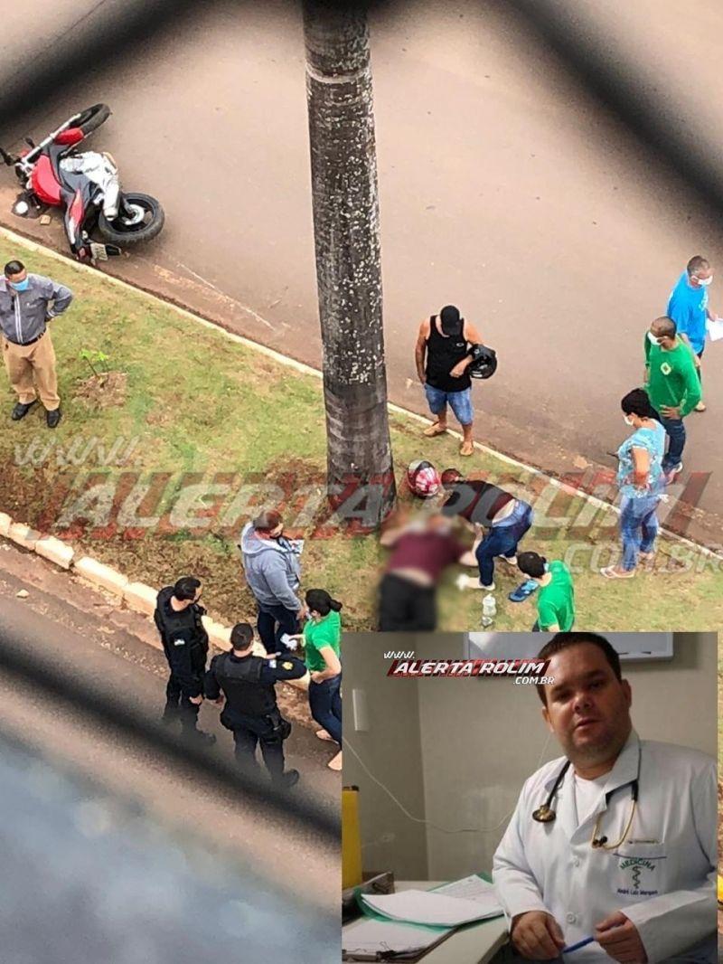 Irmão de empresário de Rolim de Moura morre após sofrer queda de moto, em Cacoal