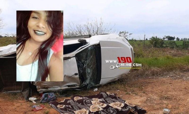 Jovem de 19 anos morre após caminhonete capotar na linha P-46, em Alta Floresta do Oeste