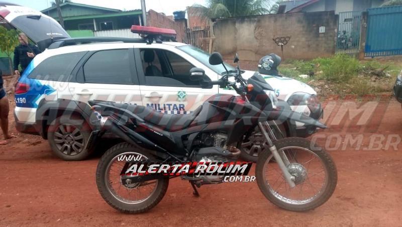 Mais uma moto roubada é recuperada pela PM do 10º Batalhão, neste sábado, em Rolim de Moura