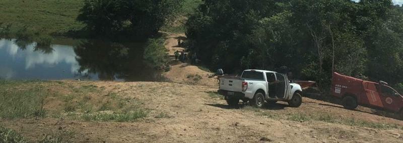 Mergulhadores do Corpo de Bombeiros localizam corpo de jovem em represa na zona rural de Parecis