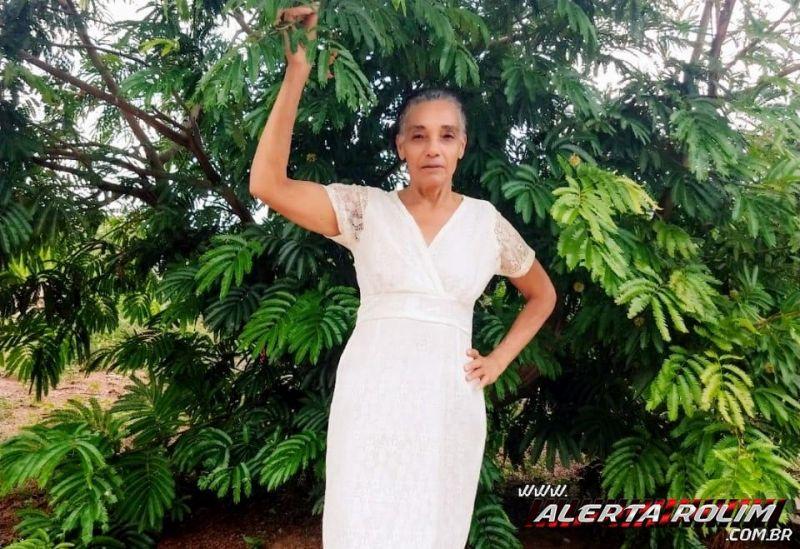Nota de falecimento - Maria Rosa dos Santos, vítima de câncer