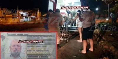URGENTE - Motociclista que sofreu queda após passar por quebra-molas não resistiu e morreu no pronto-socorro, em Rolim de Moura