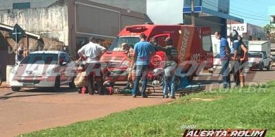 Motociclista fica ferido ao colidir na traseira de caminhão caçamba, em Rolim de Moura