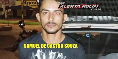 Acusado de atirar em Frentista durante roubo em Posto de combustível é preso pela Polícia, em Rolim de Moura