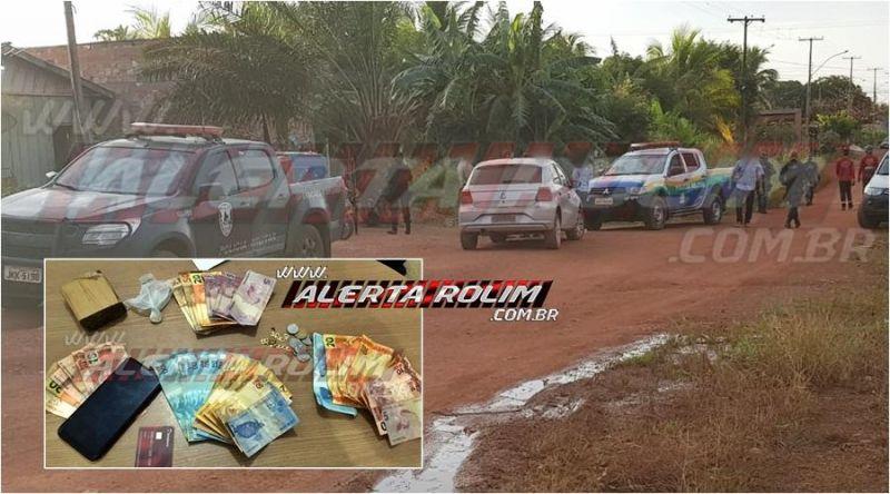 Durante operação em conjunto entre PM e PC, duas bocas de fumo são estouradas e traficantes são presos, em Rolim de Moura