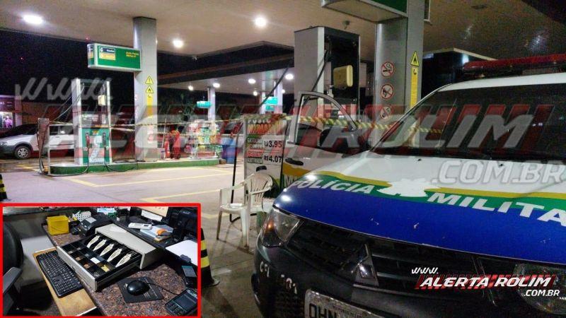 Frentista é baleado no rosto durante roubo a posto de combustível, em Rolim de Moura – Veja o vídeo