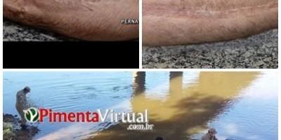 Funerária divulga imagens do corpo encontrado em rio para possível identificação, em Pimenta Bueno