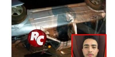Jovem de 20 anos morre após veículo capotar na BR-429, em São Francisco do Guaporé