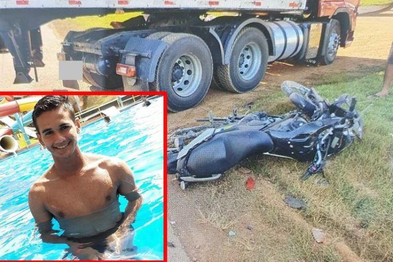 Jovem de 19 anos morre horas depois de bater em carreta na BR-364, em Jaru