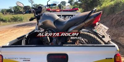 Motocicleta roubada é recuperada por equipe de Radiopatrulha da Polícia Militar, em Santa Luzia