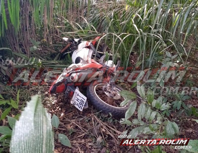 Motocicleta roubada em Rolim de Moura é recuperada pela Polícia Militar do 10º Batalhão, em Santa Luzia