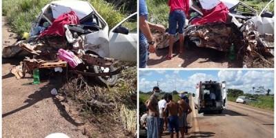 Mulher morre e idoso fica em estado grave após acidente na BR-364