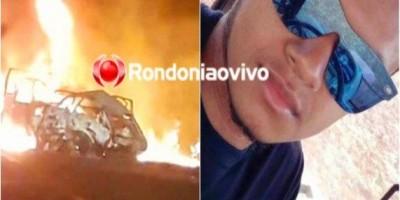 Jovem morre carbonizado após carro explodir em acidente na BR-364, em RO