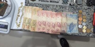 PM de folga apreende drogas e efetua prisão de suspeito, em Cacoal